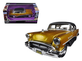 1955 Buick Century Gold/Black Outlaws 1/26 Diecast Model Car by Maisto - $36.39