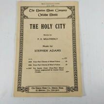 THE HOLY CITY 1942 Boston Music Company Sheet Music Stephen Adams F.E. W... - $12.99
