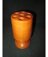 Vintage Wood Pencil Holder 5 inches tall - $22.99