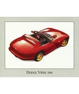 1996 Dodge VIPER sales brochure sheet RT/10 96 CANADA - $8.00