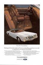 1972 Ford Thunderbird autocar interior scene prnt ad - $10.00