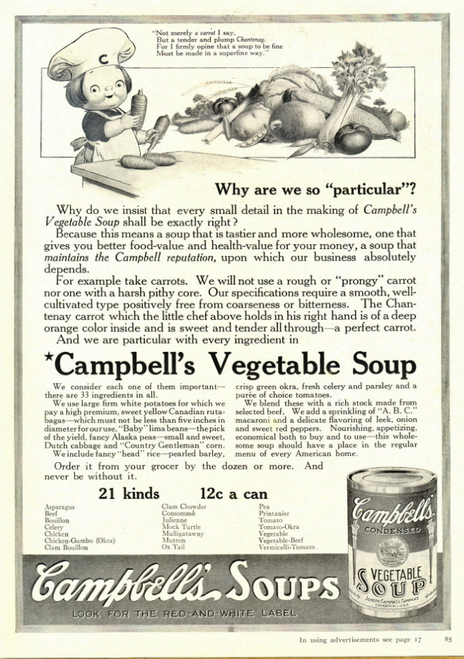 1937 Campbell's Vegetable Soup Campbell Kid print ad