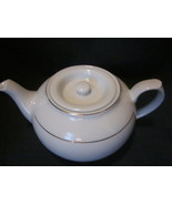 White Porcelain Teapot with Gold Trim Unmarked - $26.99