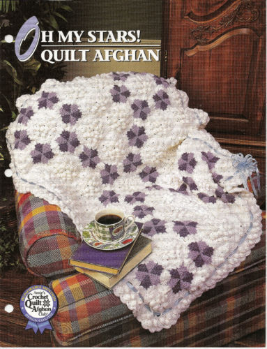 Oh My Stars Quilt Afghan Crochet Pattern Annies Crochet Quilt Afghan Club