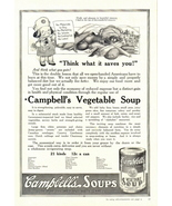 1938 Campbell's Vegetable Soup money saving print ad - $10.00