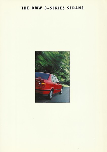 1994 BMW 3-SERIES Sedan brochure catalog 2nd Edition US 94 318i 325i