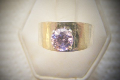 Pink Ice 6mm round Cubic Zirconia Ring
