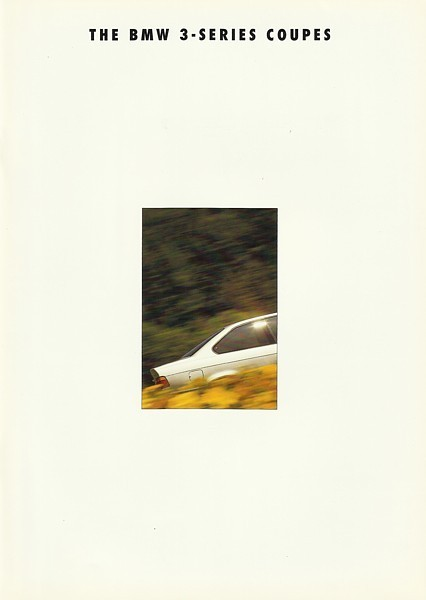 1993 BMW 3-SERIES Coupe brochure catalog US 93 318is 325is