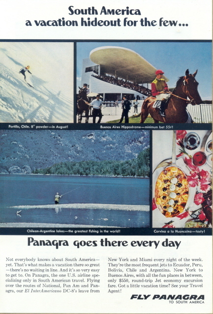 1962 Pan AM Grace Airways Panagra S America vacation ad