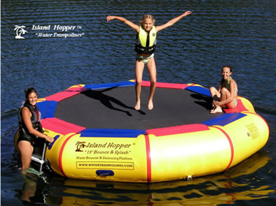 Island Hopper 13' Bounce & Splash Water Bouncer NEW