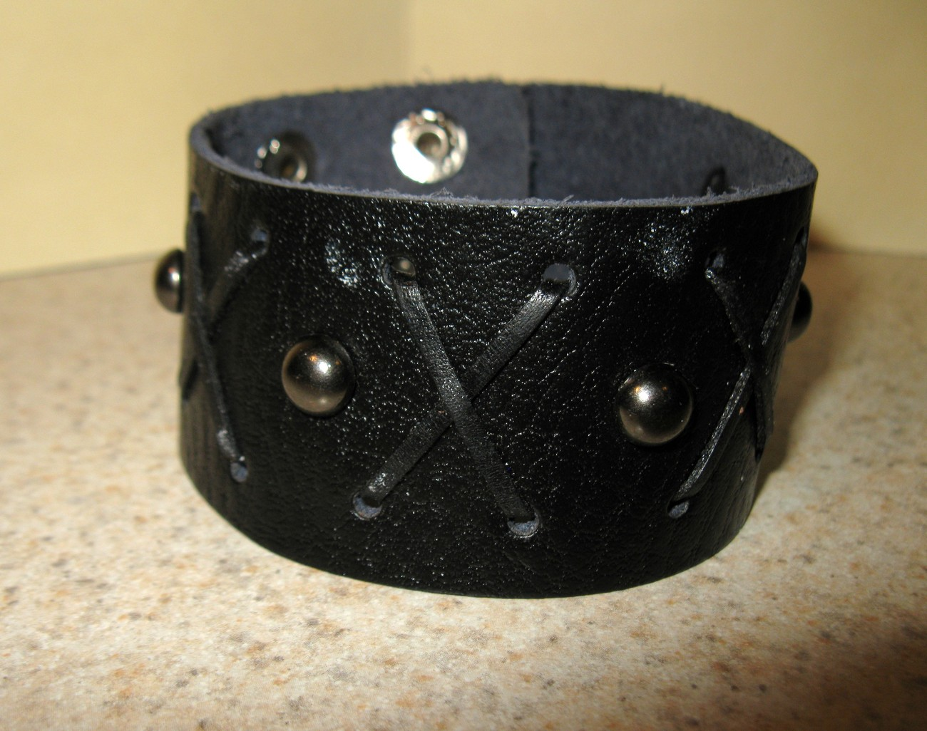 37 black cross stitch bracelet