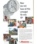 1958 Panagra South America vacation Machu Picchu print ad - $10.00