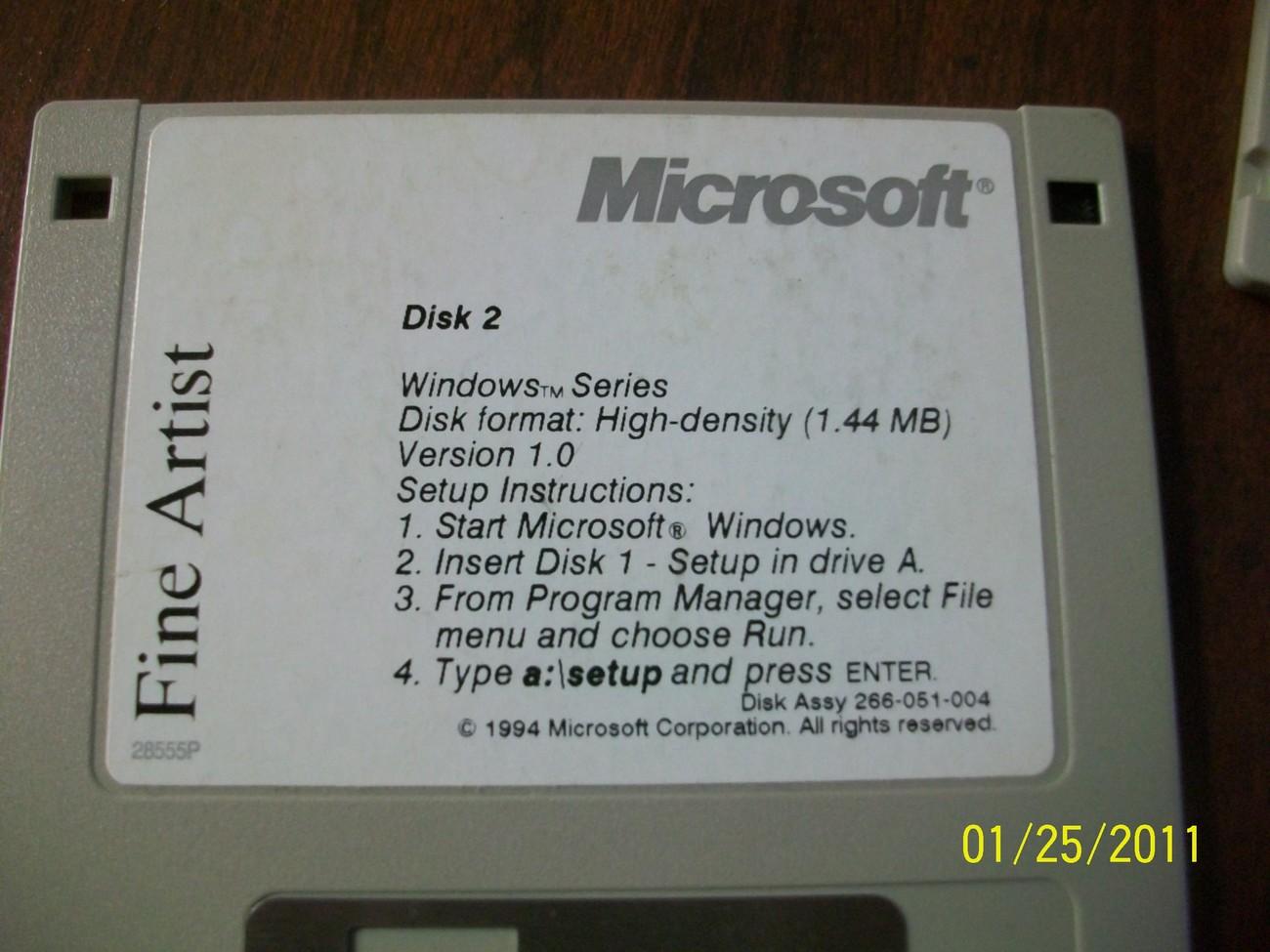 fine artist microsoft 1994, 2 floppy disks