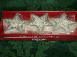 STAR FLOATER CANDLES from World Market - Brand New In Package image 2