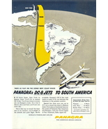 1955 Panagra DC-8 Jets South America Route print ad - $10.00