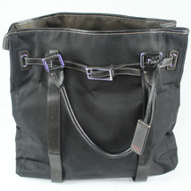 TUMI Black Brown Reversible Nylon Large Tote Bag Purse - $138.59