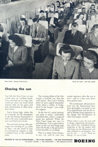 1945 Boeing Stratocruiser aircraft main cabin print ad - $10.00