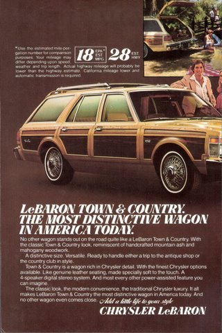 1979 Chrysler LeBaron Town & Country wagon print ad