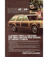 1979 Chrysler LeBaron Town & Country wagon print ad - $10.00