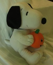 "Peaniuts Snoopy Plush Toy Holds Pumpkin 14"" by HHK - $34.95"