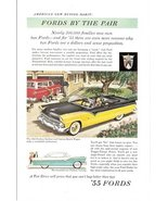 1955 Ford Fairlane Sunliner & Custom Ranch Wagon print - $10.00