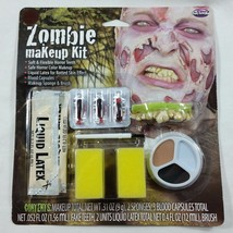 Zombie Liquid Makeup Kit Blood Teeth Easy Costume Halloween Face Paintin... - $8.99