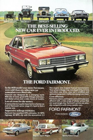 1978 Ford Fairmont car outstanding magazine print ad !