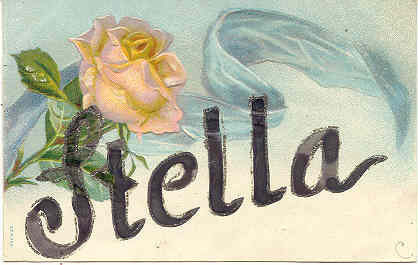 GreetingsTo Dear Stella Vintage Post Card