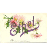 GreetingsTo Ethel Vintage Post Card - $5.00