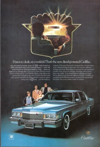 1979 Cadillac car family studio shot magazine print ad