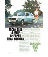 1978 Volkswagen Rabbit Diesel runner in action print ad - $10.00