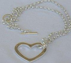Silver heart pendant - $61.00