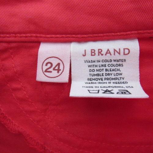 J Brand Jeans Pants Womens 24 Red Skinny Leg C04  image 5