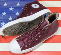CONVERSE Chuck Taylor ALL-STAR HI SAMPLE Dark Burgundy Red Leather [1623... - $88.88