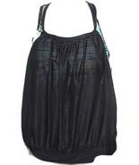 NWT Girls ZeroXposure 2-in-1 Draped Tankini Top - Size 10 - Fiji - Black... - $15.00
