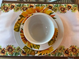 Sunflower dishes set with placemat - $14.85