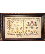 Fruit of the Spirit Love cross stitch chart Abby Rose Designs - $8.10