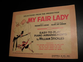 Sheet Music Selections from My Fair Lady 1956 Piano Arrangements Lerner ... - $9.99