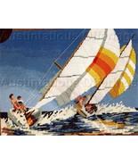 Gerrish Textured Sailing Summer Waters Needlepoint  Kit - $59.99