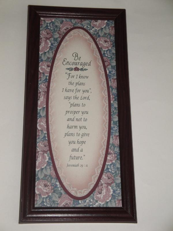 Be Encouraged: Jeremiah 29:11 Framed Scripture Verse