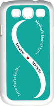 Teal Green & White Mother's Love with Navy Blue Names Samsung Galaxy S3 ... - $15.95