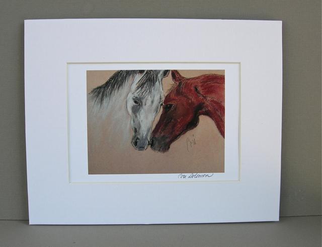 Horse art print head to head by cori solomon