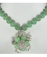Stunning lady's baby green jade necklace & pendant necklace free shipping - $19.99