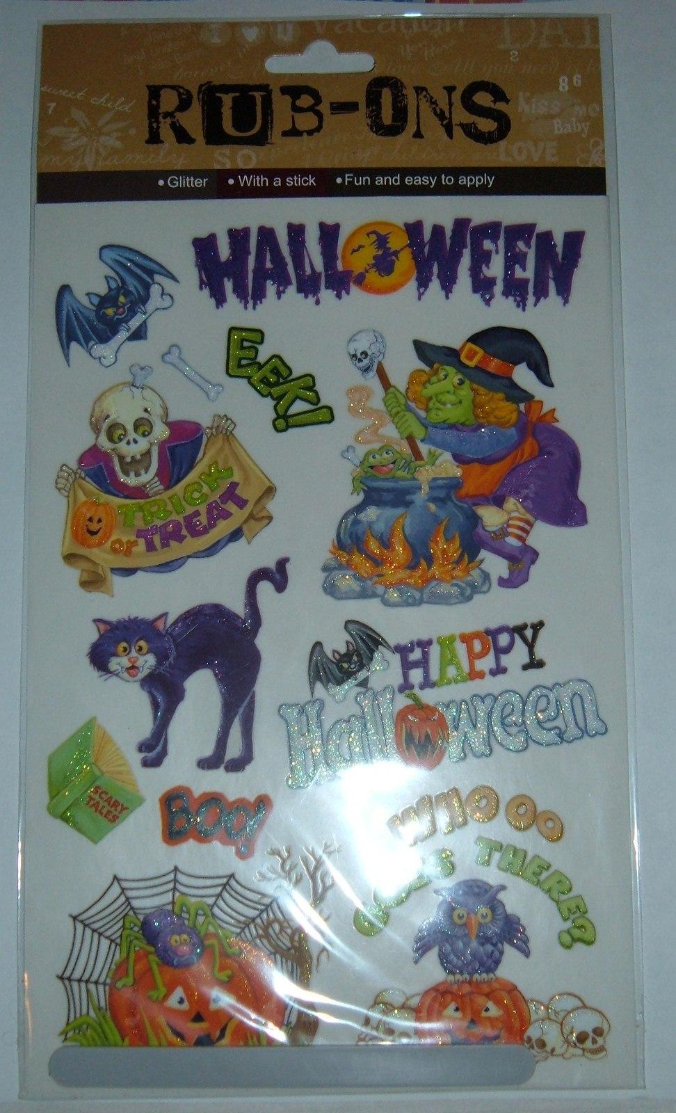 Halloween Rub-ons-NIP
