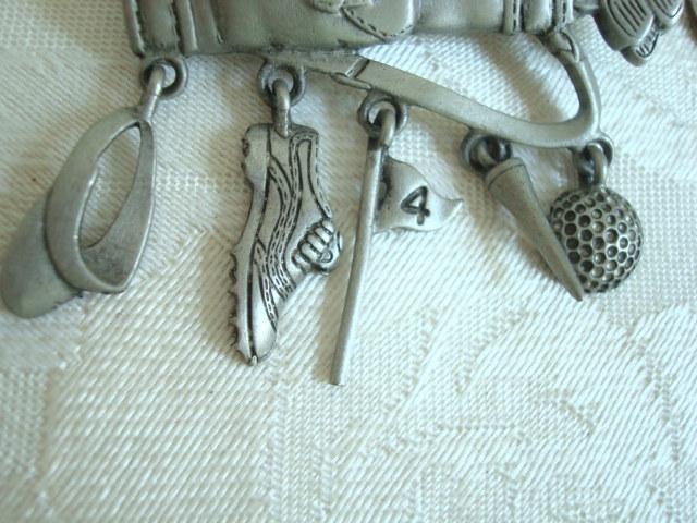Golf Bag ~ Shoe ~ Tee ~ Flag ~ Visor ~ Ball Charms Pin ~ Bro