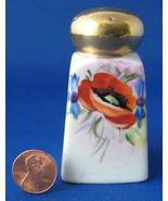 Nippon Salt Shaker Noritake Cruet Poppy Hand Painted - $12.00