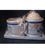 Floral Cream and Sugar Gift Set NIB - $23.99