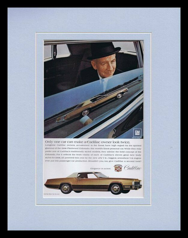 Primary image for 1968 Cadillac Fleetwood Eldorado Framed 11x14 ORIGINAL Vintage Advertisement