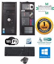Dell Optiplex Tower Desktop Windows 10 HP 4GB 250GB Intel Core 2 Duo Wifi - $154.26
