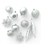 40ct Silver Shatter Proof Resistant Christmas Tree Ornament Set Wondersh... - $14.99